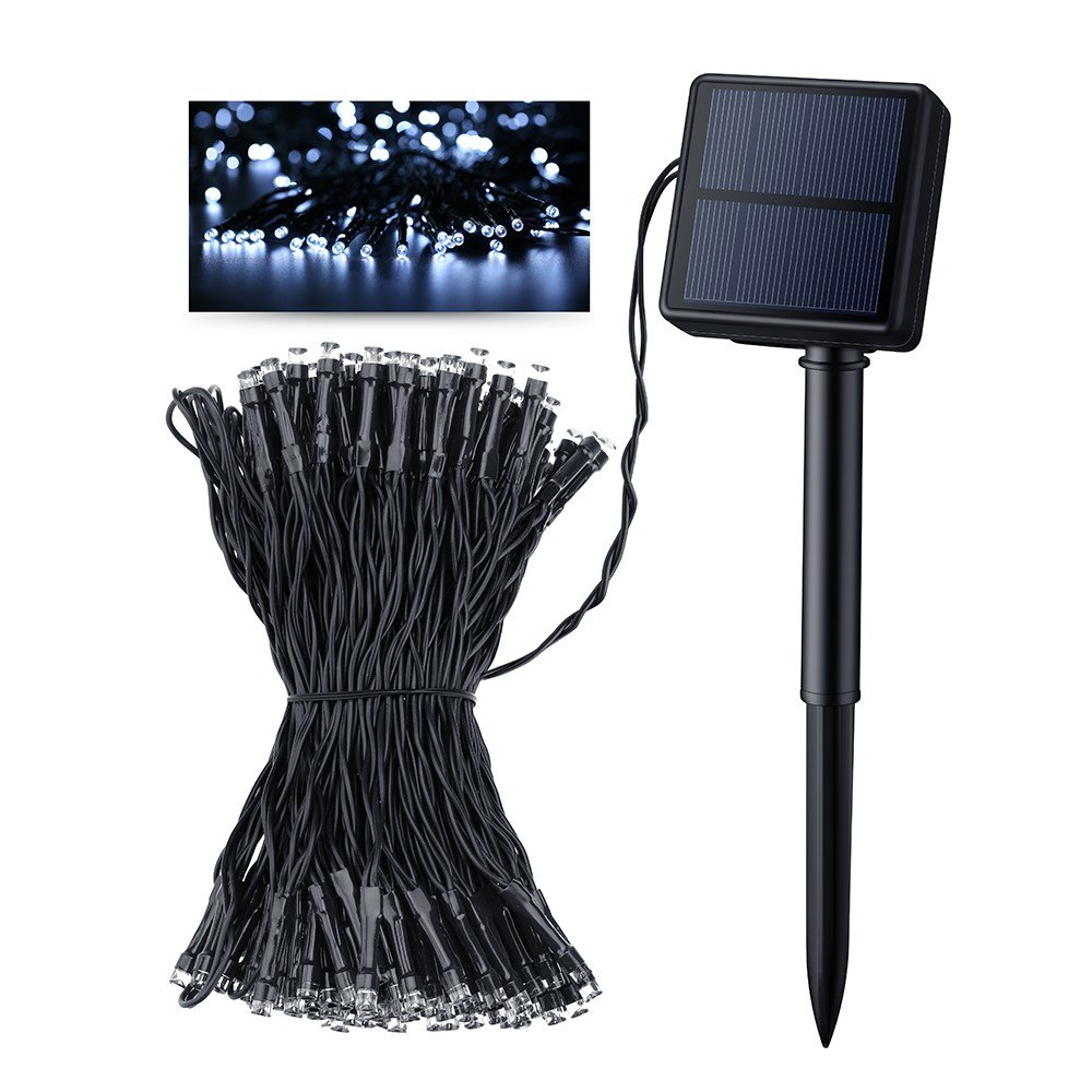 Best Victsing Solar Outdoor 200 Led String Lights 72 18 Ft With Pictures