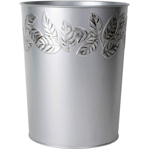 Best Silver Leaves Wastebasket Bathroom Bedroom Trash Can Home With Pictures