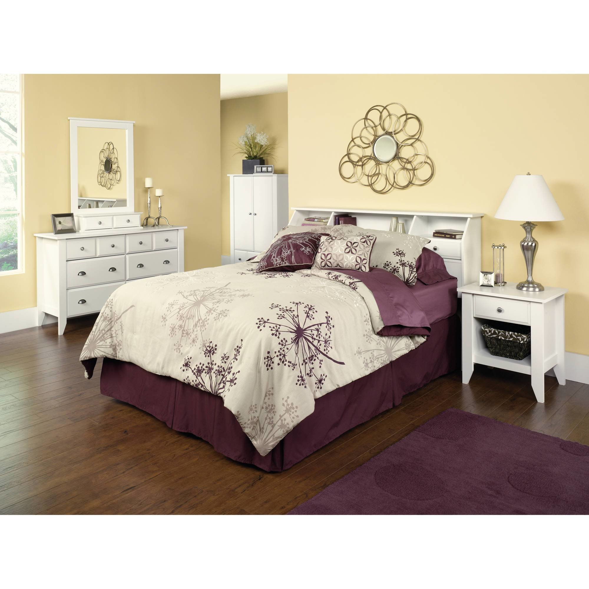 Best Storage Bedroom Furniture White Full Queen Headboard With Pictures