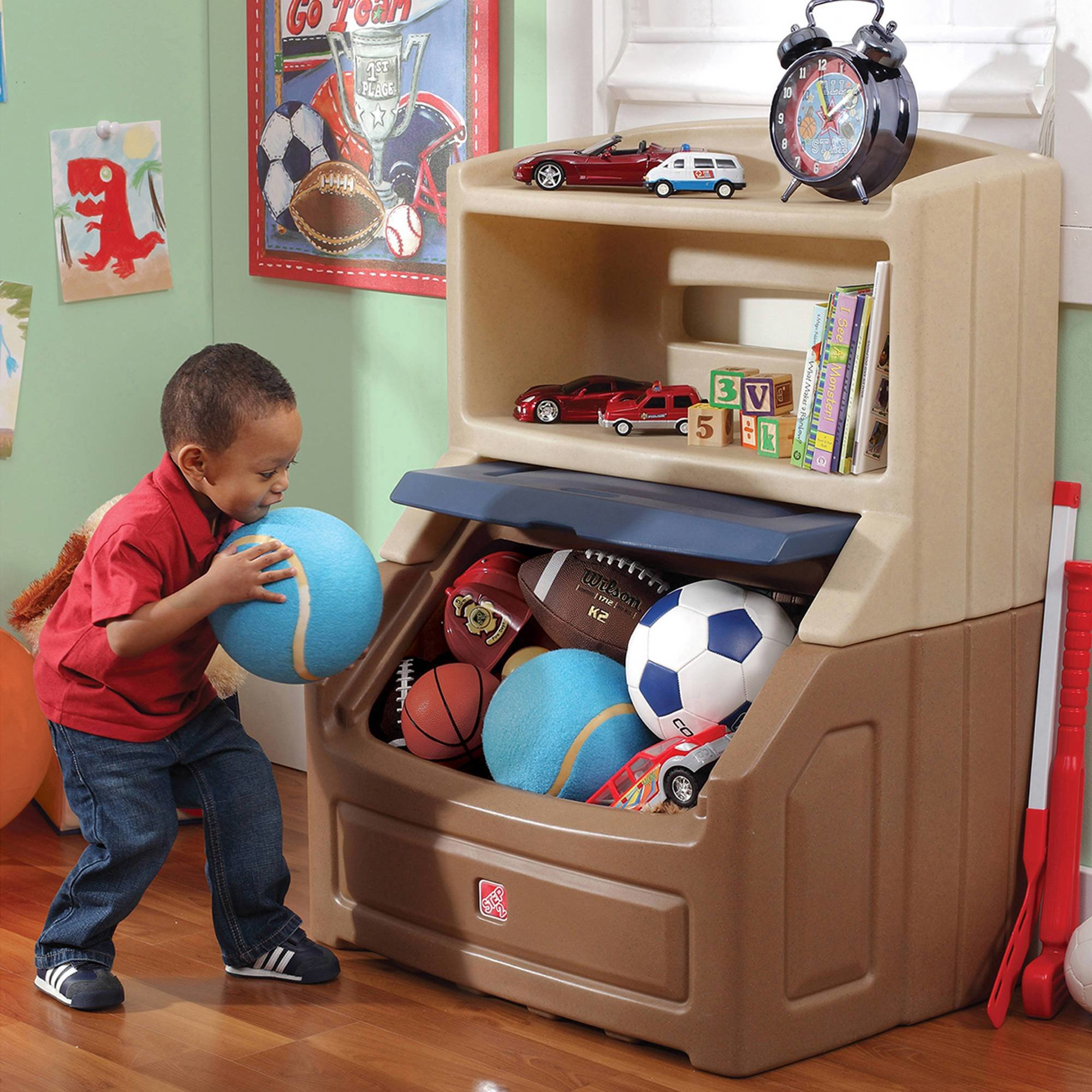 Best Bookshelf Storage Chest Kids Toy Box Plastic Play Room With Pictures