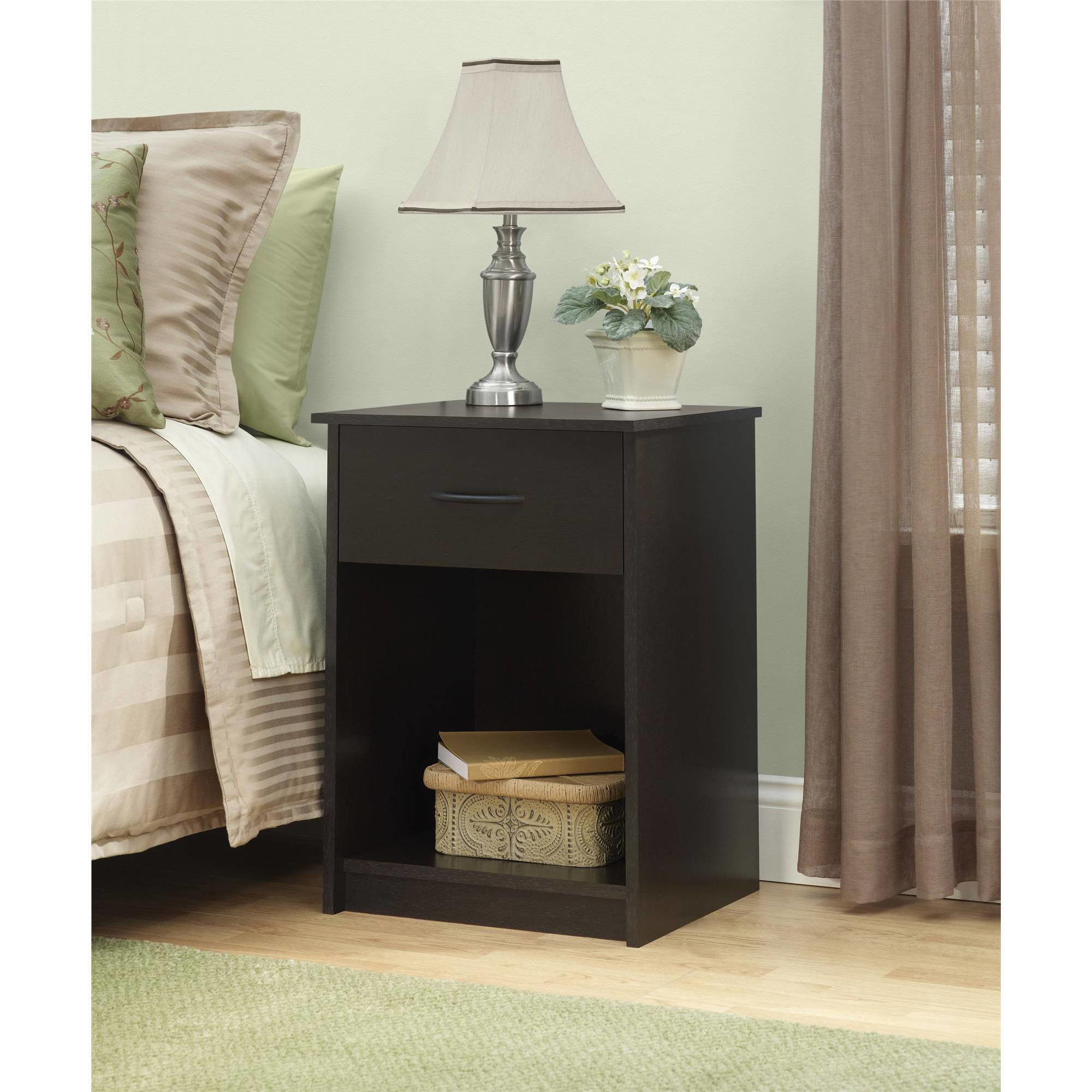 Best Nightstand Night Stand End Table 1 Drawer Furniture With Pictures