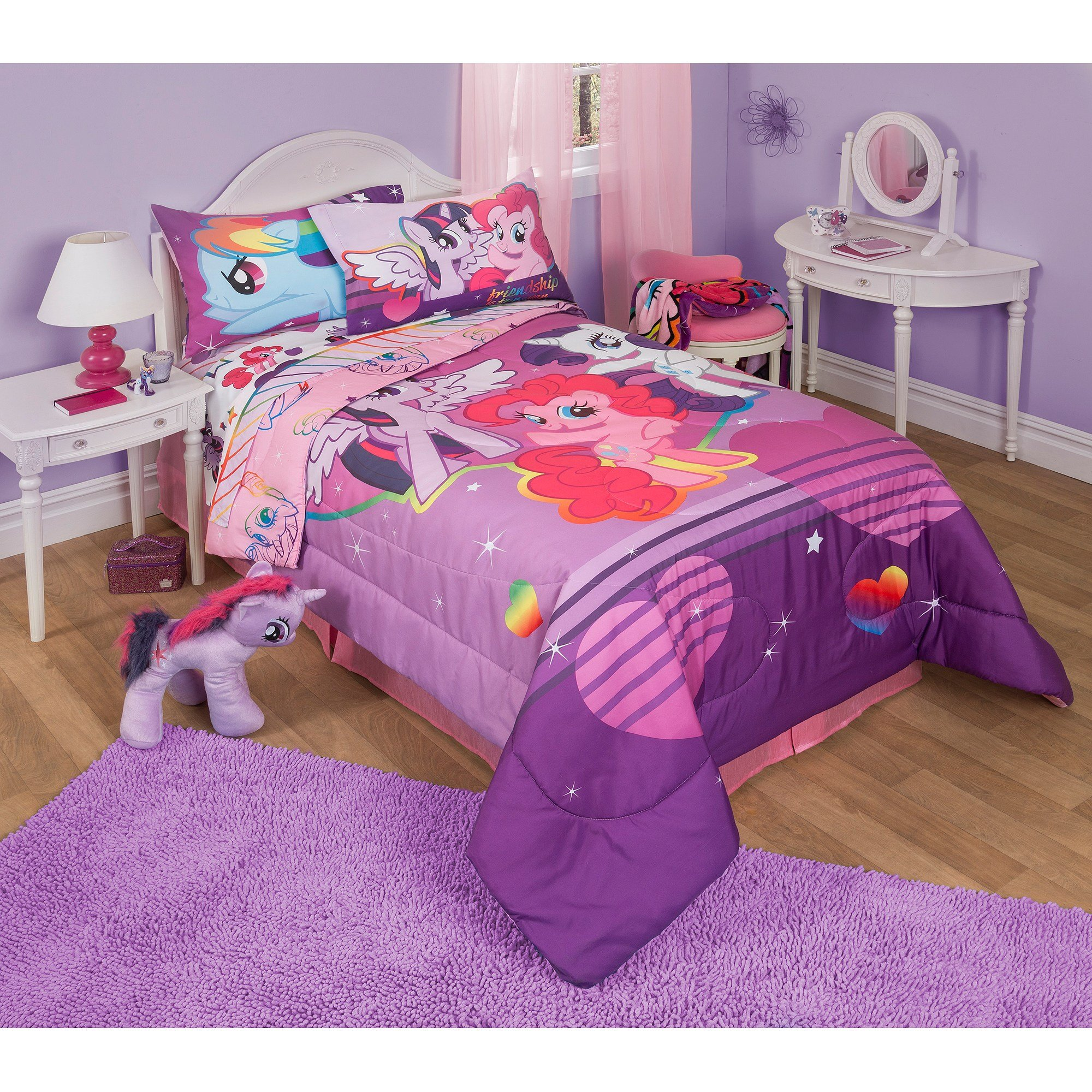 Best My Little Pony Twin Full Bedding Comforter Walmart Com With Pictures