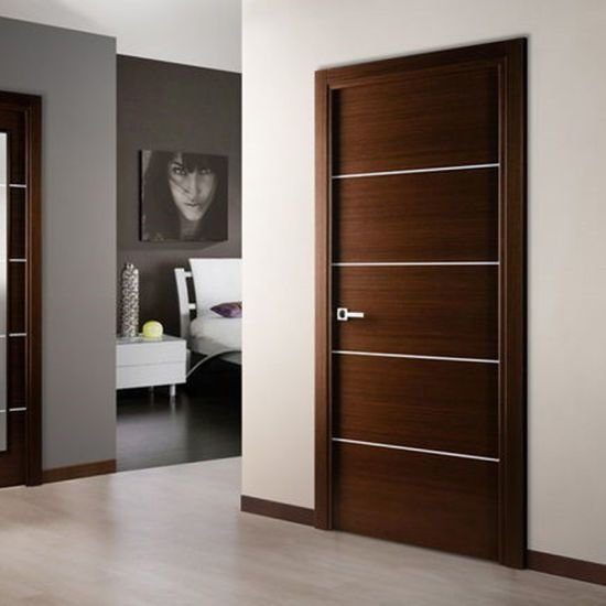 Best China Interior Bedroom Entry Modern Teak Wood Main Door With Pictures