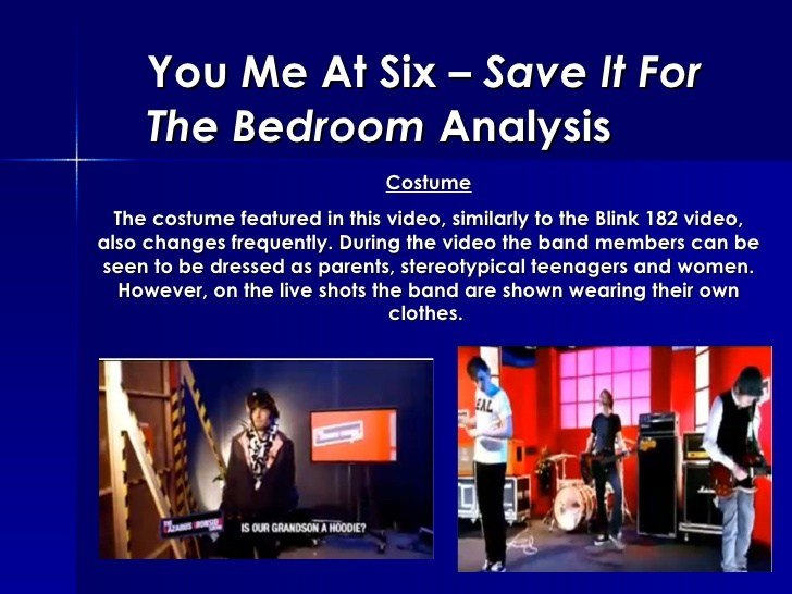 Best You Me At Six Save It For The Bedroom Analysis With Pictures