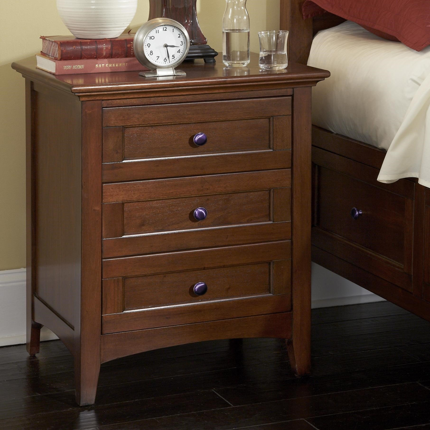 Best Waterford Collection 3 Drawer Night Stand With Cord Managment Rotmans Night Stands Worcester With Pictures