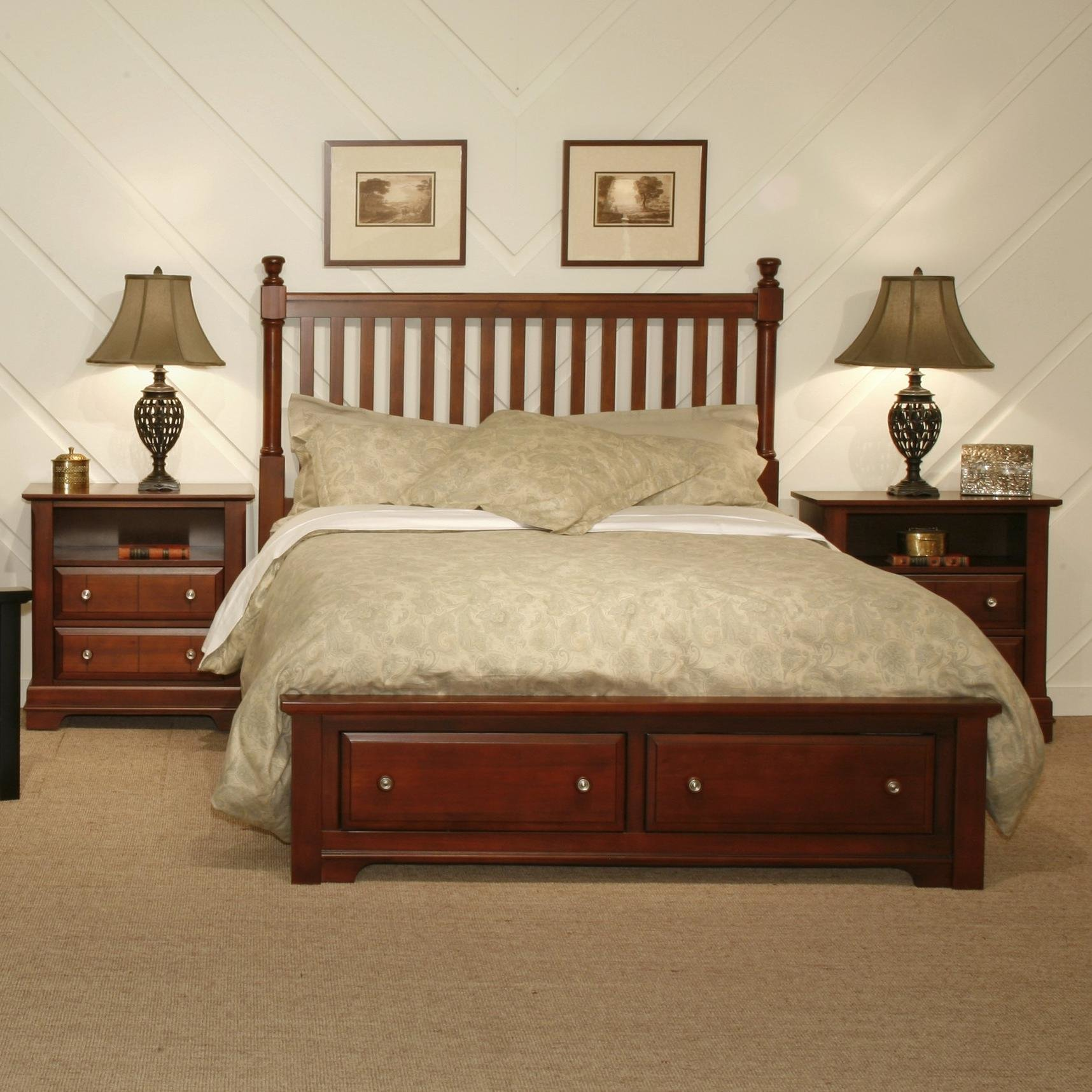 Best Vaughan Bassett Cottage King Bedroom Group Value City With Pictures