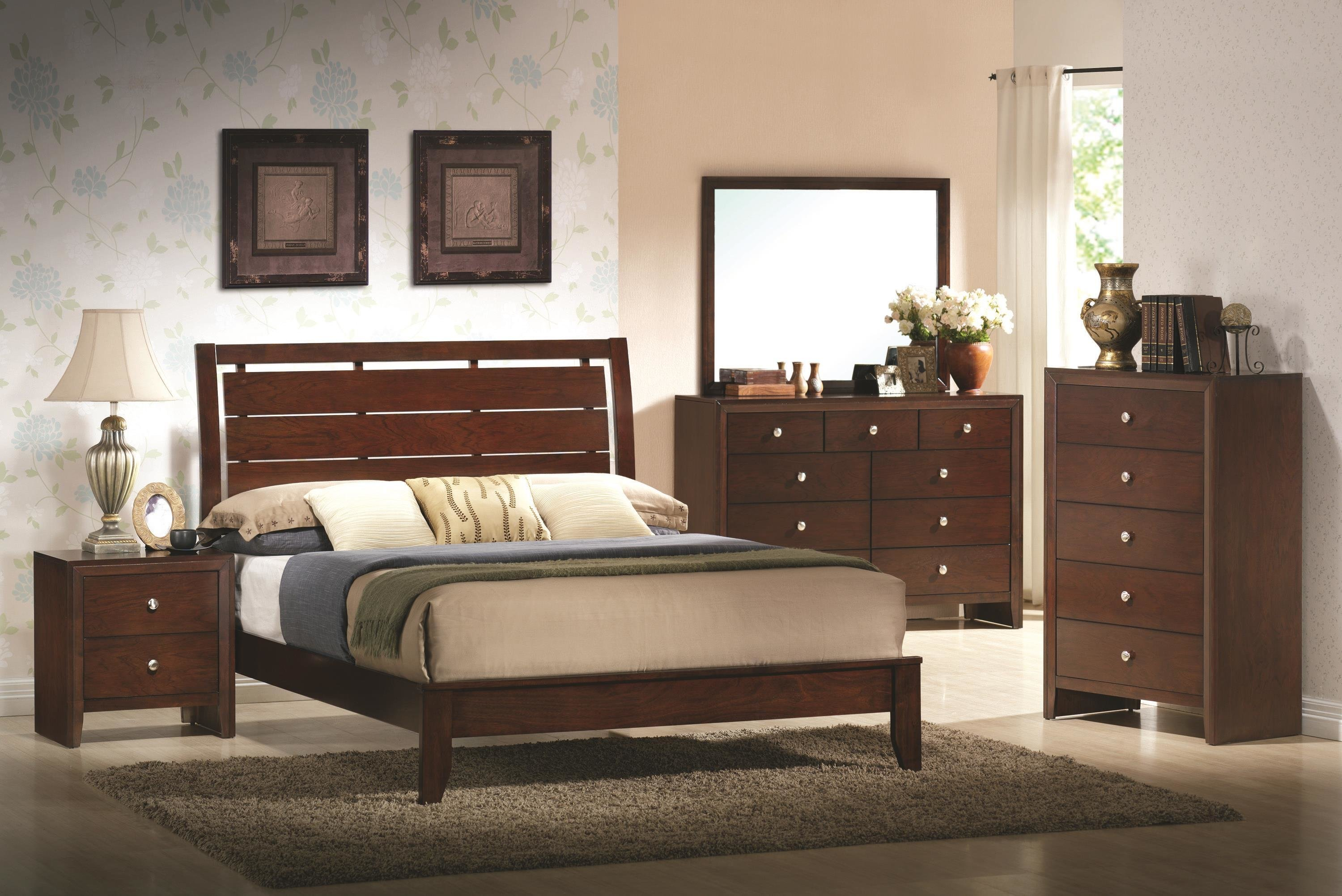Best Crown Mark Evan Full Bedroom Group Del Sol Furniture With Pictures