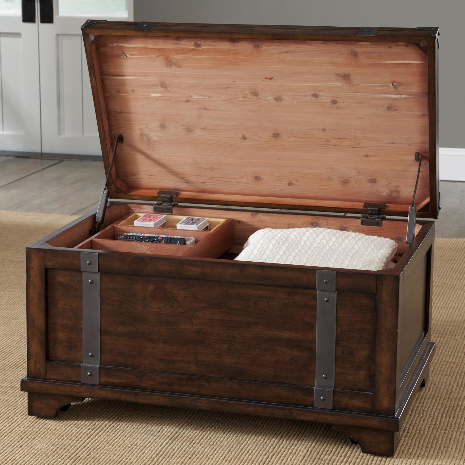 Best Aspen Skies Industrial Casual Storage Trunk With Removable With Pictures