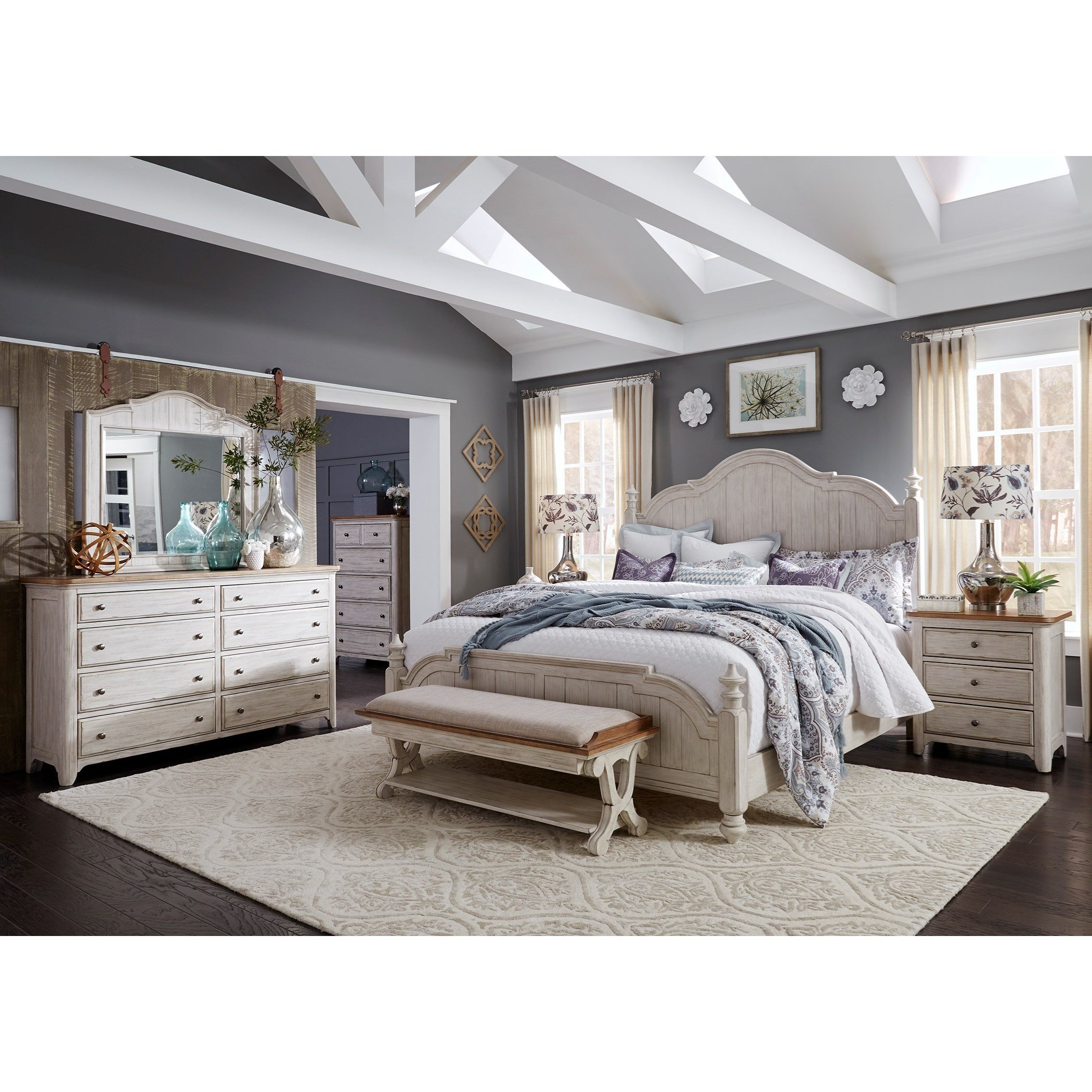 Best Liberty Furniture Farmhouse Reimagined Queen Bedroom Group With Pictures