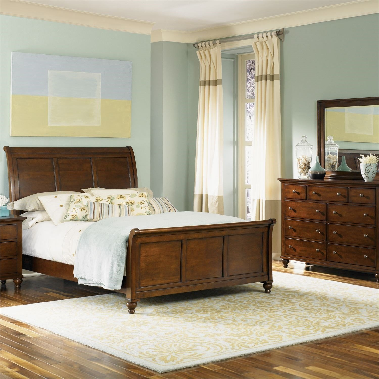 Best Liberty Furniture Hamilton Queen Bedroom Group Royal With Pictures