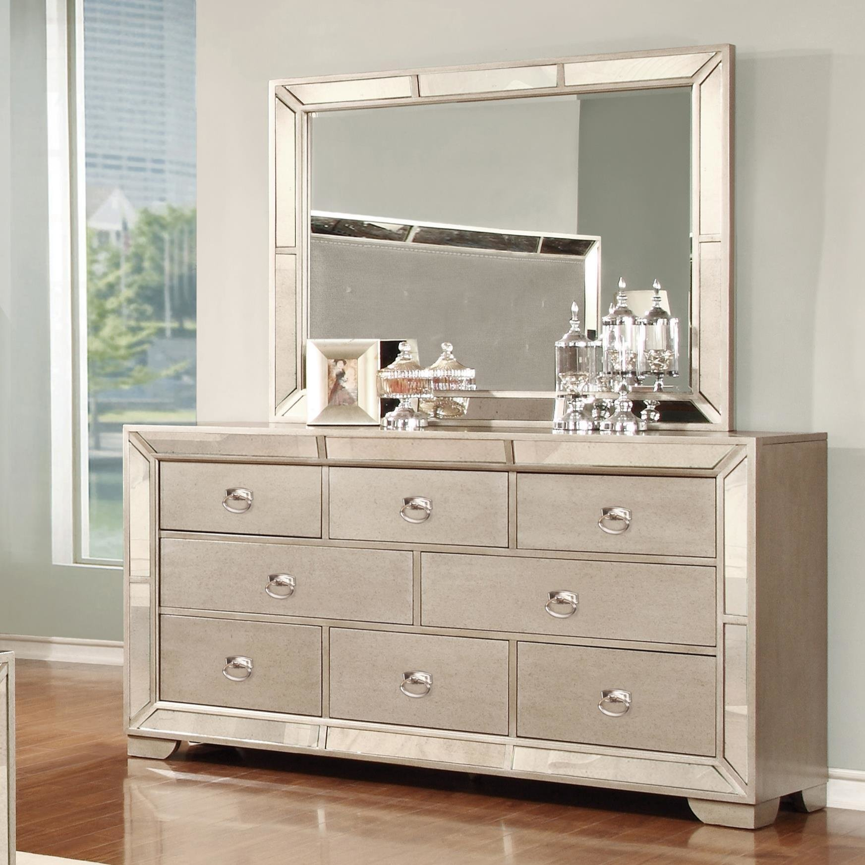 Best Lifestyle Glitzy 7 Drawer Dresser And Mirror Set Royal With Pictures