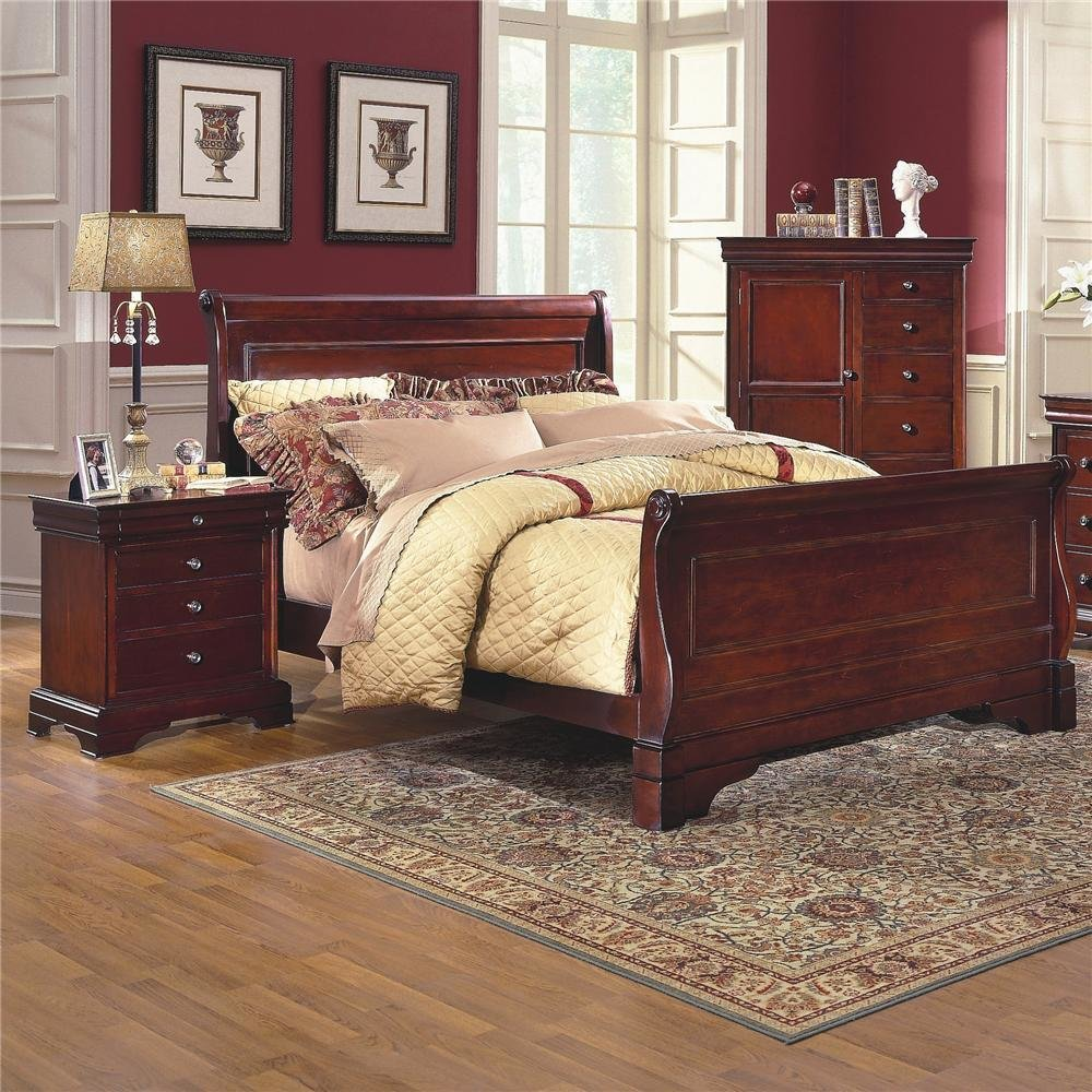 Best New Classic Versaille Queen Sleigh Bed Dunk Bright With Pictures