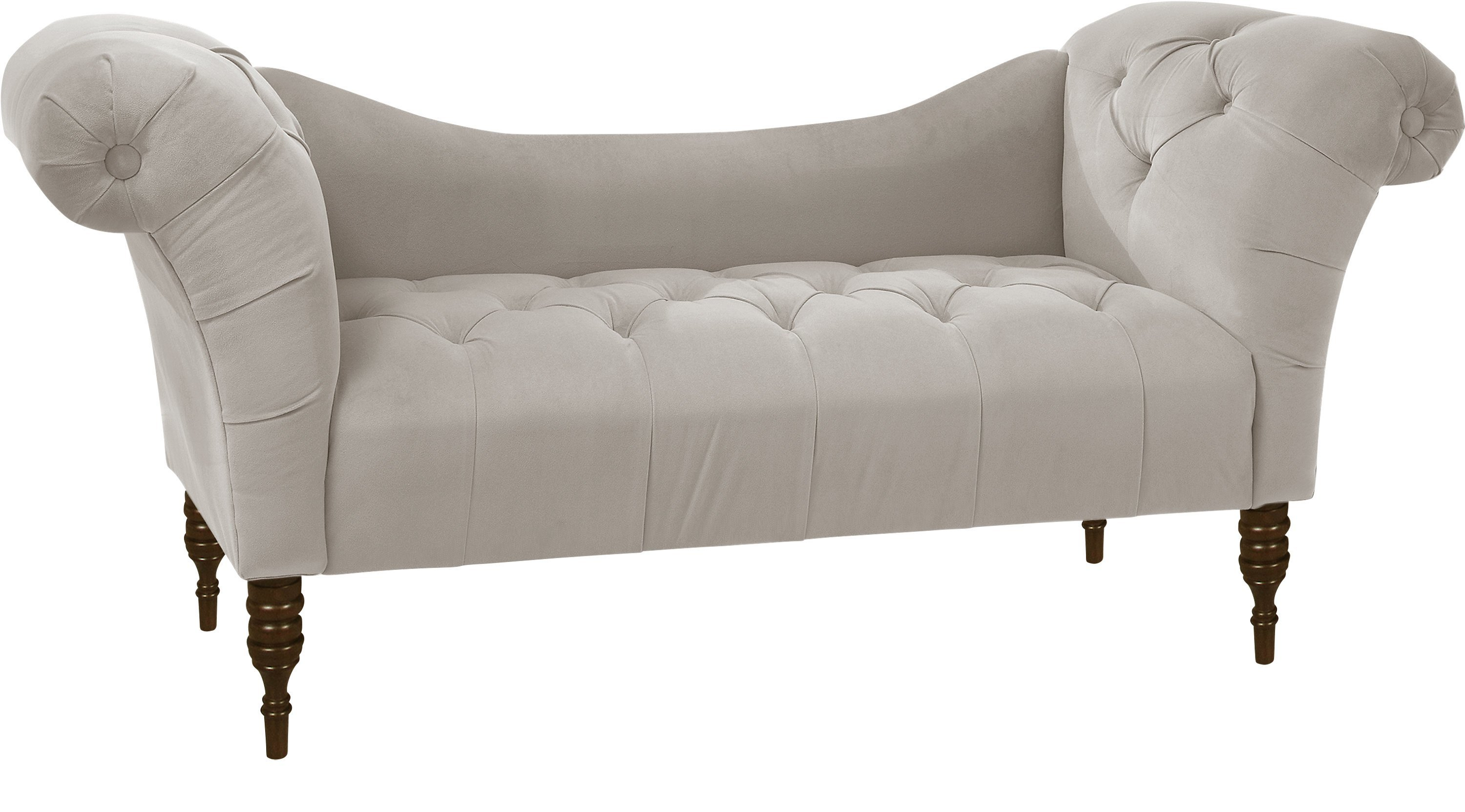 Best Whitmere Light Gray Chaise Bench Transitional With Pictures