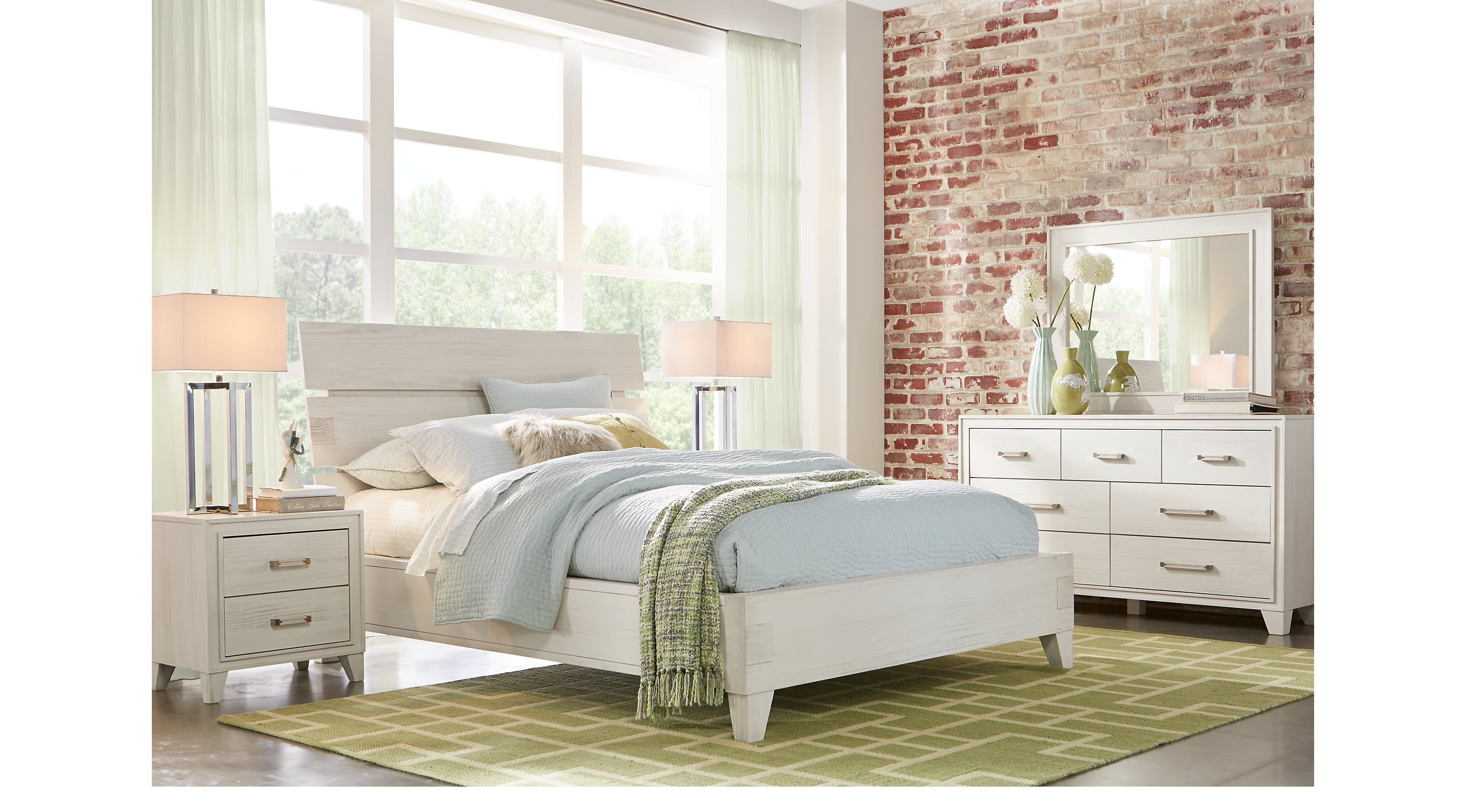 Best Crestwood Creek Off White 7 Pc King Panel Bedroom With Pictures