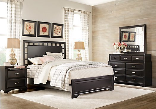 Best Belcourt Black 7 Pc Queen Lattice Bedroom Panel With Pictures
