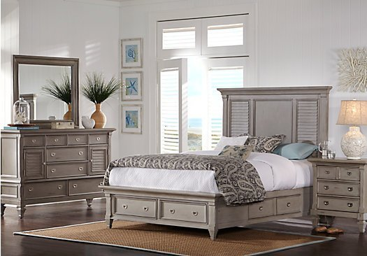 Best Belmar Gray 7 Pc Queen Panel Bedroom With Storage With Pictures
