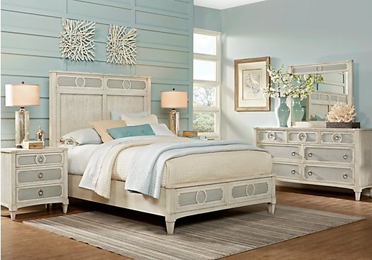 Best Harlowe Ivory Off White 5 Pc Queen Bedroom Panel With Pictures