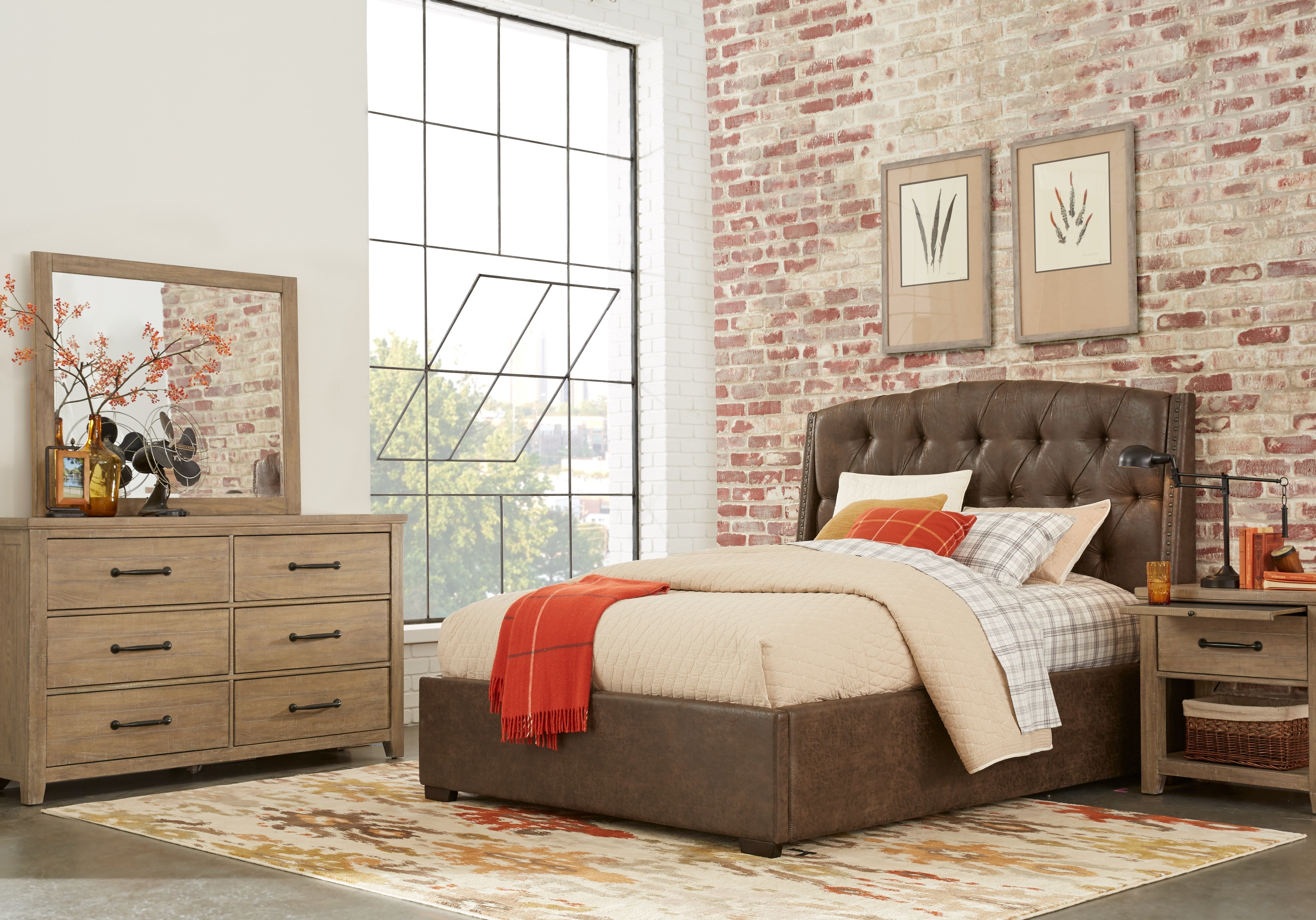 Best Urban Plains Mahogany 5 Pc Queen Upholstered Bedroom With Pictures