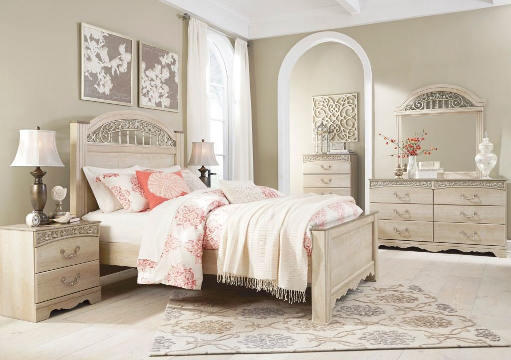 Best Signature Design By Ashley Catalina Cream 5Pc King Bedroom With Pictures