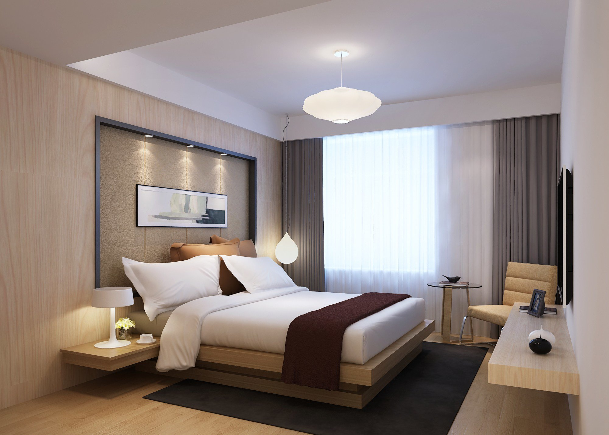 Best Modern Bedroom 3D Model Max Cgtrader Com With Pictures