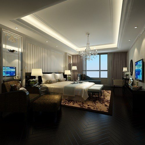 Best Modern Bedroom With Flat Screen Tv 3D Cgtrader With Pictures