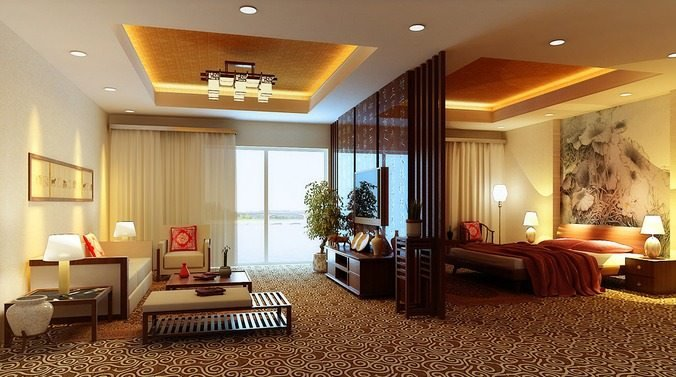 Best Fully Carpeted Master Bedroom C*M Living Room 3D Model Max With Pictures