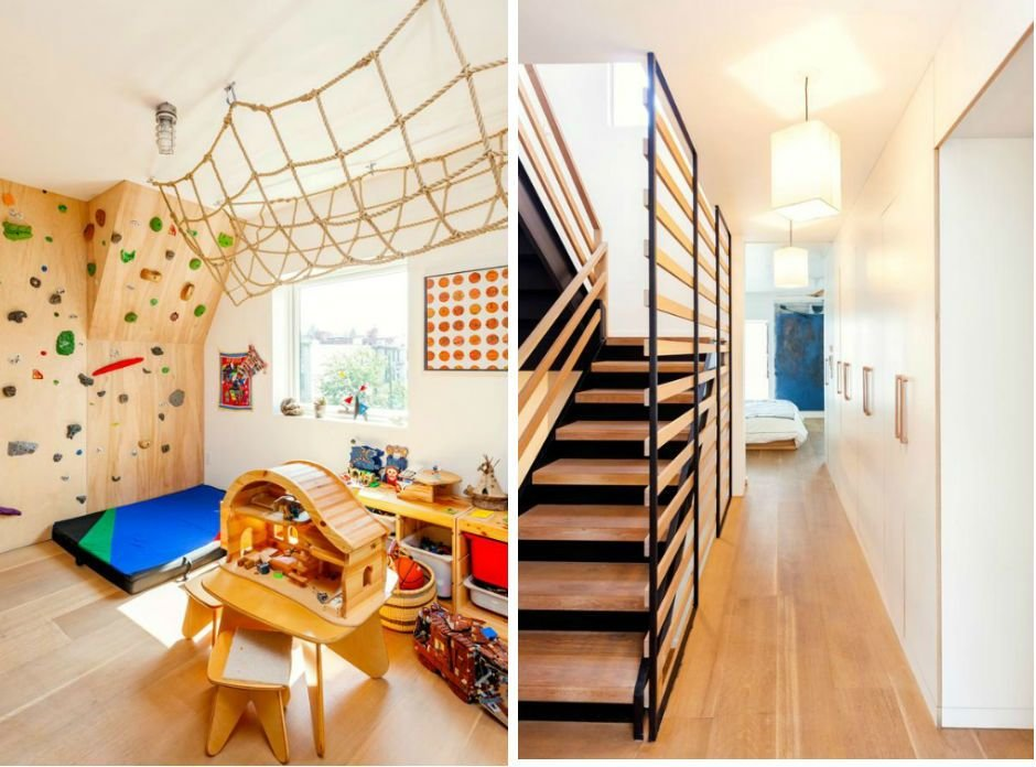 Best A Totally Modern Brooklyn Townhouse With A Rock Climbing With Pictures