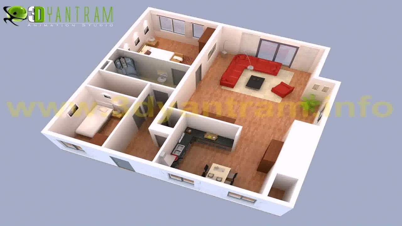 Best 2 Bedroom House Plans 3D View Gif Maker Daddygif Com With Pictures