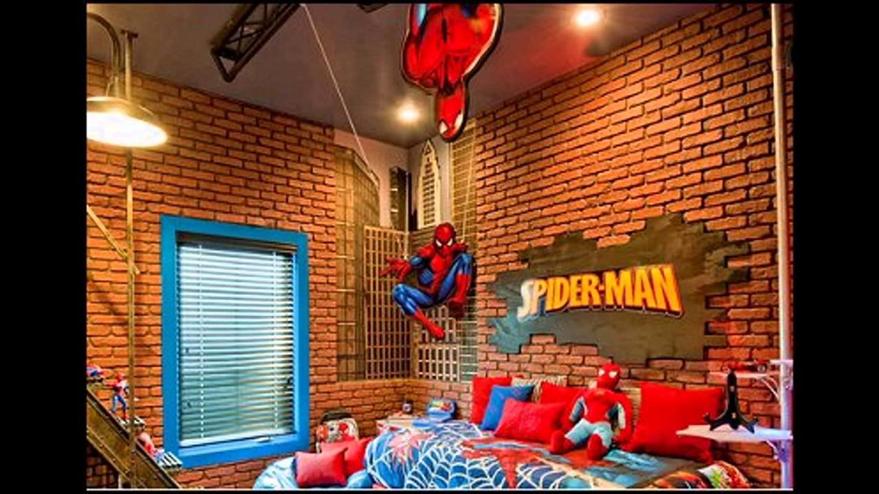 Best Spiderman Themed For Kids Bedroom Ideas Youtube With Pictures