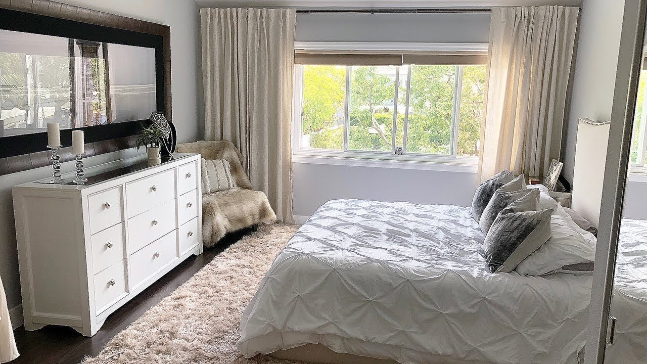 Best White Beige Bedroom Decor Makeover Youtube With Pictures