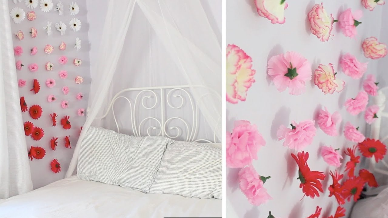 Best Apartment Decor Diy Flower Wall Chains Youtube With Pictures