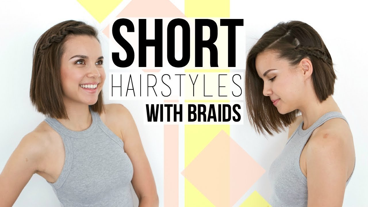 Free 2 Quick Easy Braids Hairstyles For Short Hair Bobs Wallpaper
