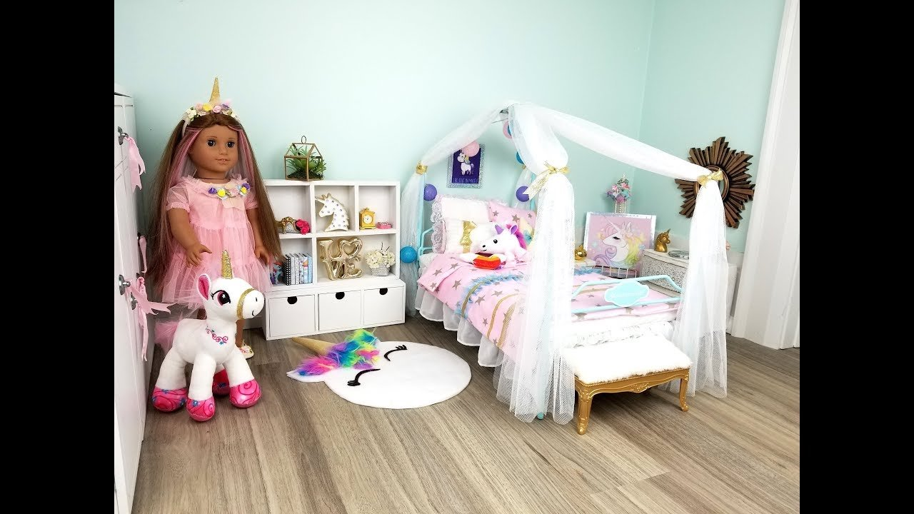 Best American Girl Doll Unicorn Bedroom Youtube With Pictures