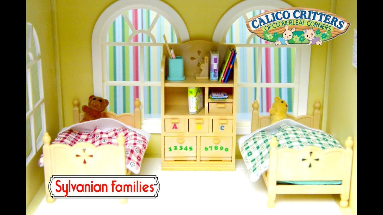 Best Sylvanian Families Calico Critters Children S Bedroom Set With Pictures