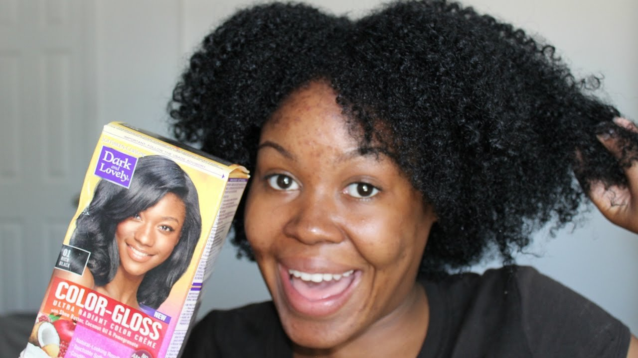 Free Dark And Lovely Color Gloss Hair Dye In Rich Black Demo Wallpaper
