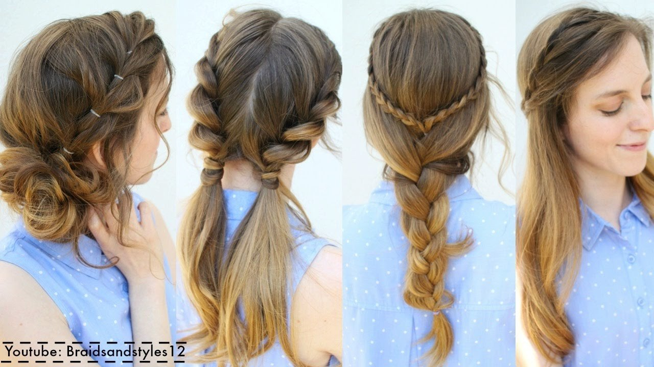Free 4 Easy Summer Hairstyle Ideas Summer Hairstyles Wallpaper