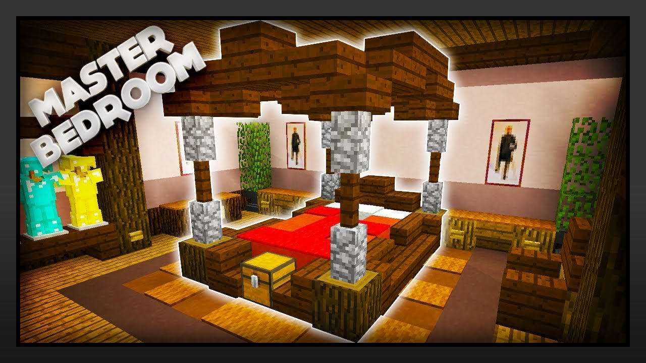 Best Minecraft How To Make A Master Bedroom Youtube With Pictures