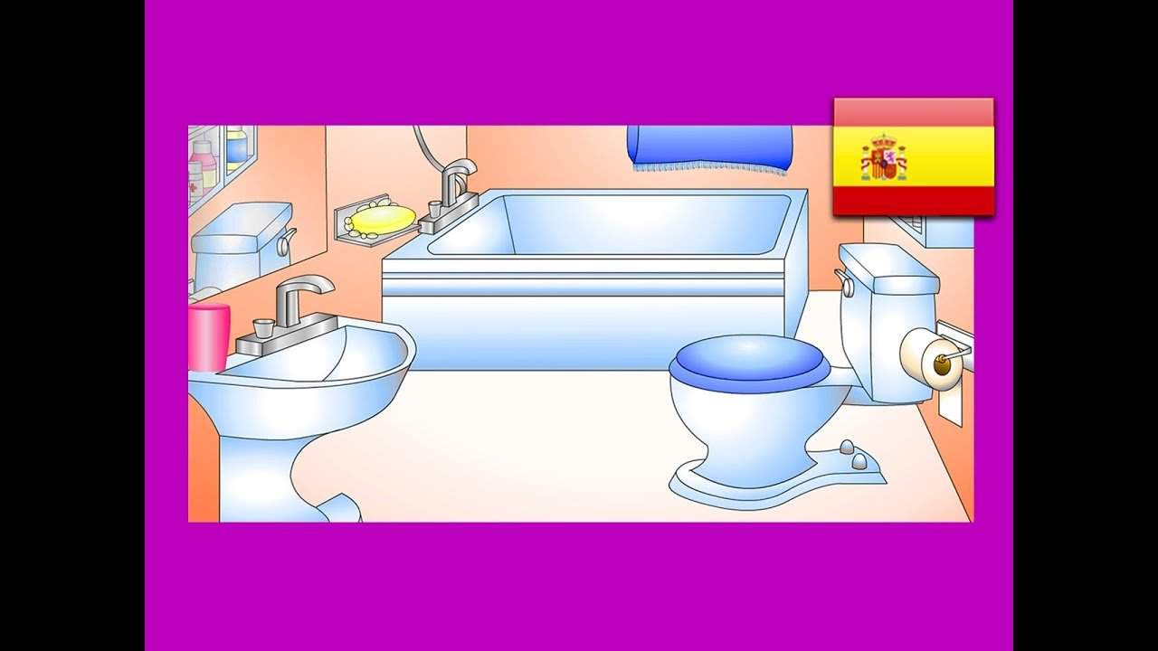 "Best ""In The Bathroom"" Spanish Lesson 12 Clip – Learn Baño With Pictures"