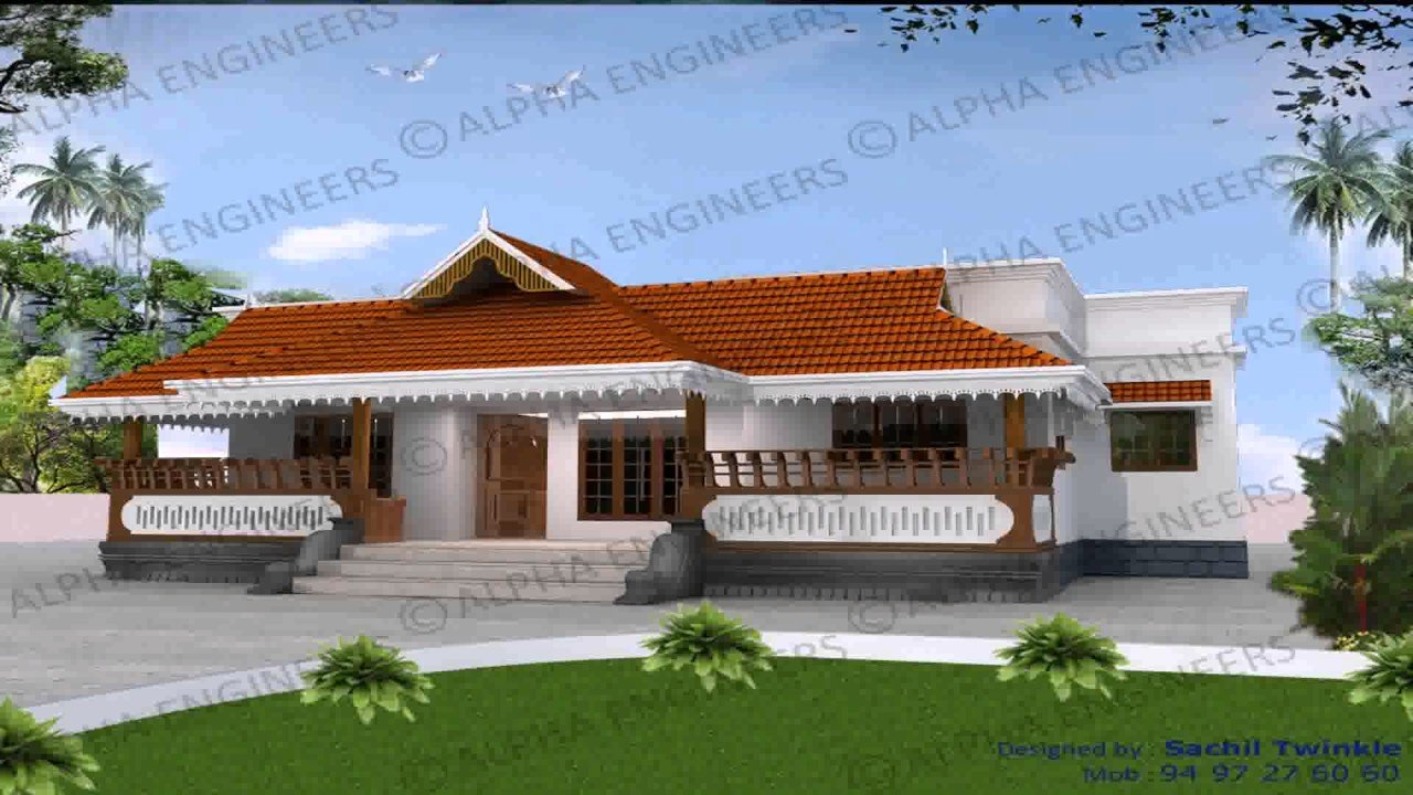 Best Kerala Style Two Bedroom House Plans Youtube With Pictures