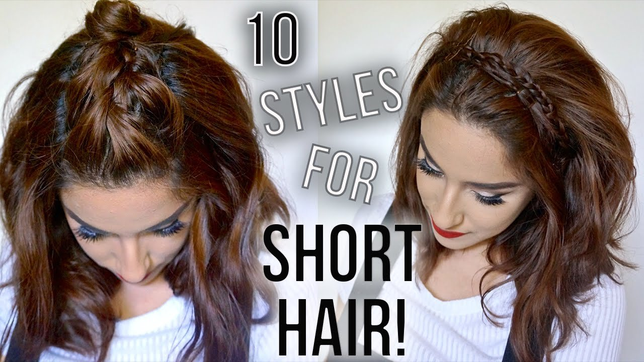 Free 10 Hairstyles For Short Hair Quick Easy How I Wallpaper