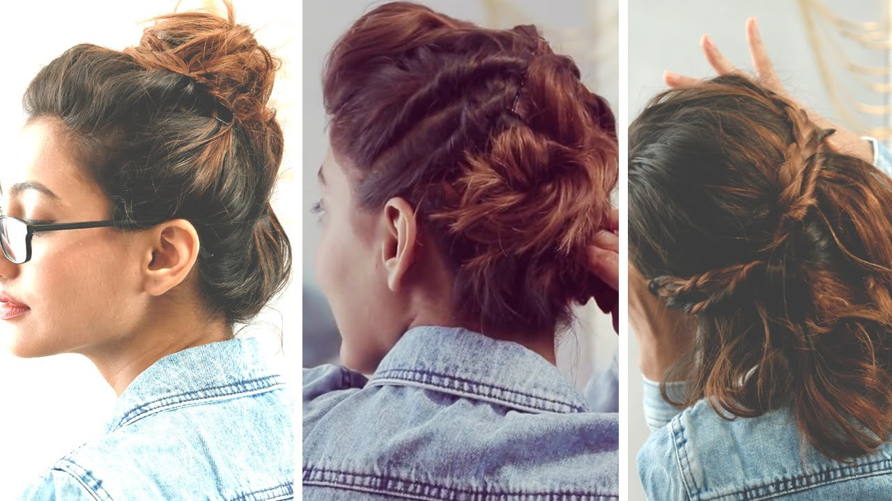 Free 3 Quick And Easy Hairstyles For Short Hair No Heat Wallpaper