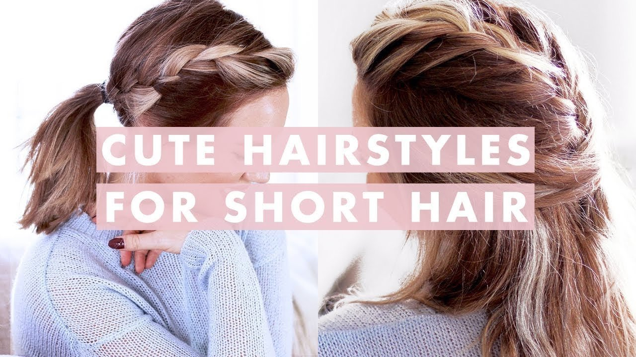 Free 3 Easy Hairstyles For Short Medium Length Hair Youtube Wallpaper