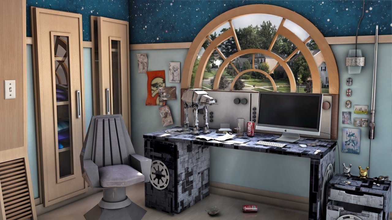 Best 3D Star Wars Themed Bedroom Youtube With Pictures