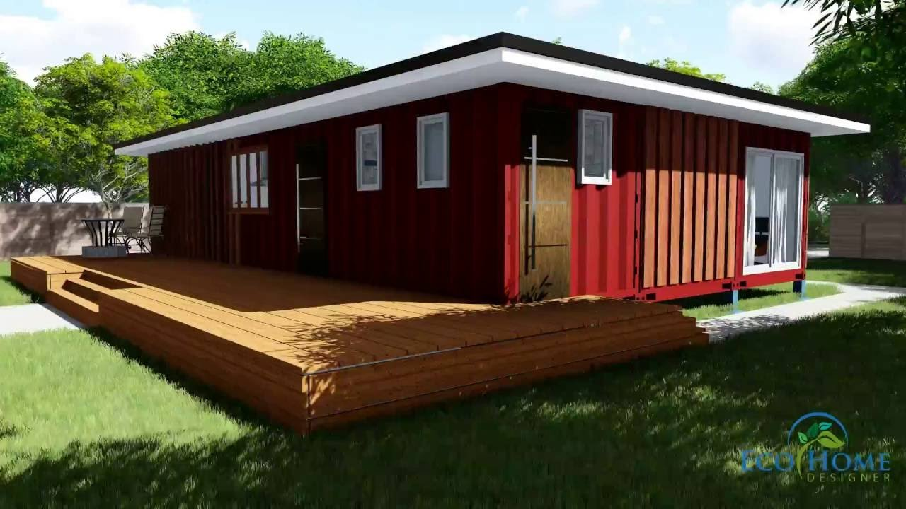 Best Sch11 3 X 40Ft 2 Bedroom Container Home Video Youtube With Pictures