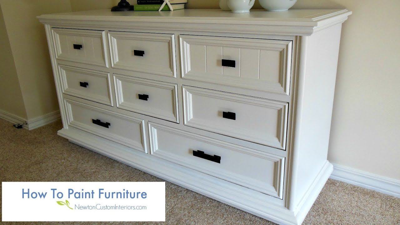 Best How To Paint Furniture Youtube With Pictures