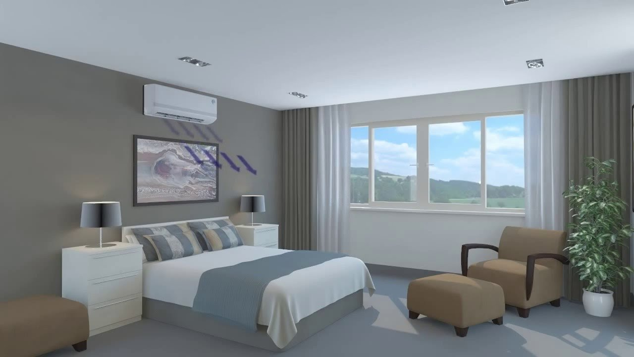 Best Wall Mounted Air Conditioner Bedroom 3D Animation Youtube With Pictures