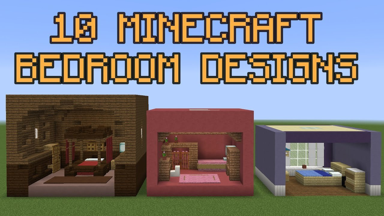 Best 10 Minecraft Bedroom Designs Youtube With Pictures