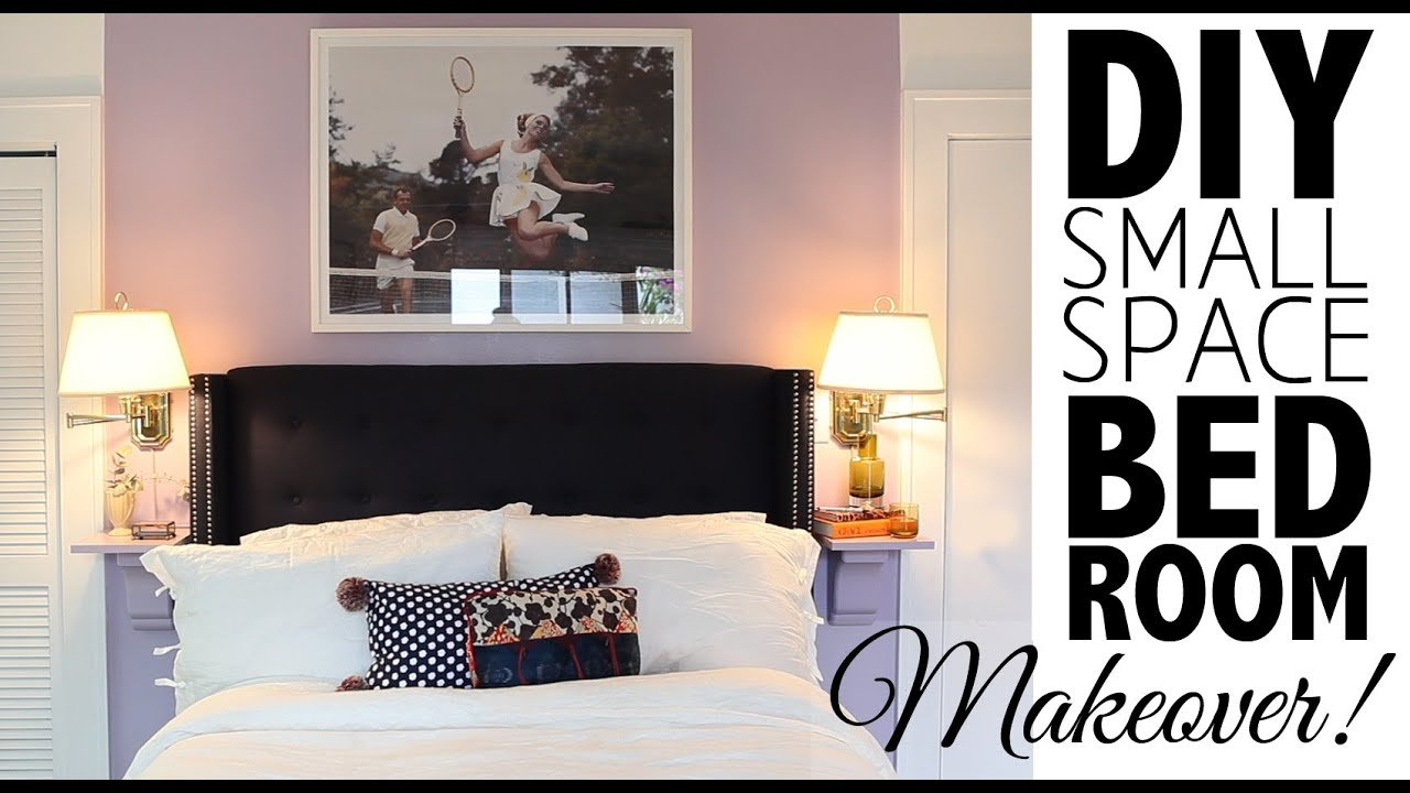 Best Diy Small Space Bedroom Makeover Home Decor Youtube With Pictures