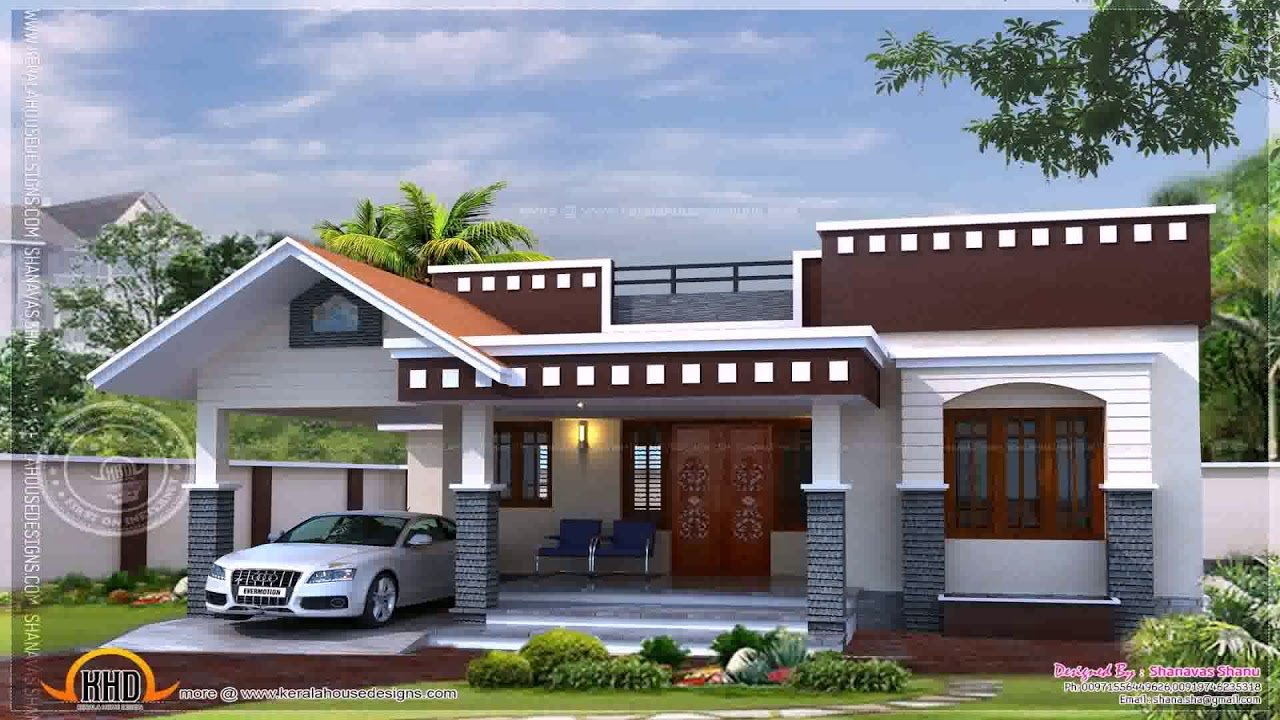 Best 2 Bedroom House Plans In Kerala Single Floor Youtube With Pictures