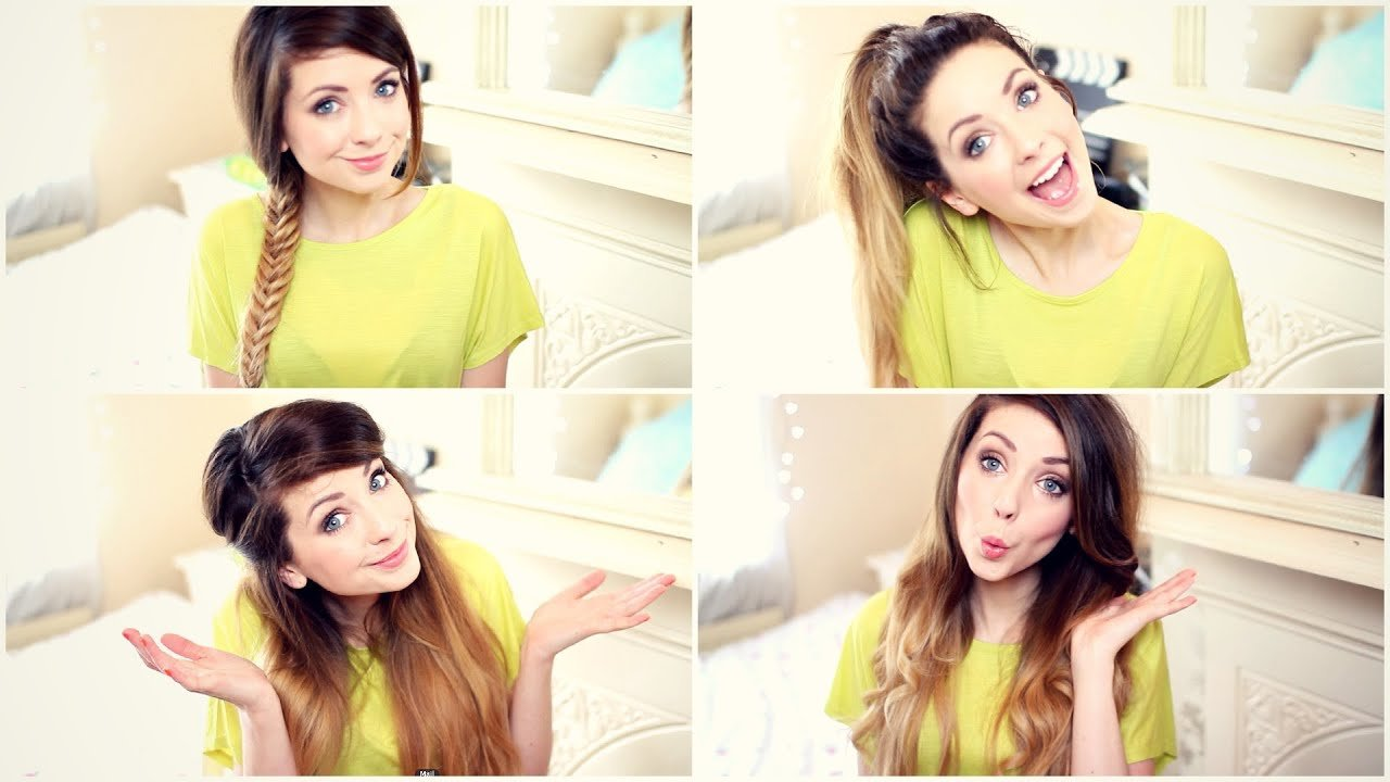 Free How To My Quick And Easy Hairstyles Zoella Youtube Wallpaper